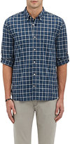 John Varvatos Men's Plaid Broadcloth Shirt