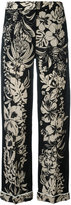 Valentino floral print trousers - women - Virgin Wool - S