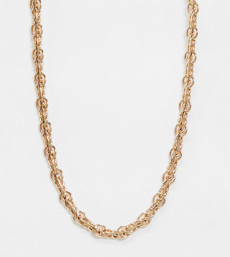 Reclaimed Vintage inspired twist chain necklace in gold