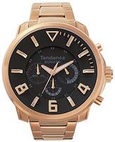 Tendence Bunker Chronograph Rose Gold Tone Black Men's Watch TG860001