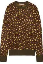 Christopher Kane Leopard-Intarsia Cashmere Sweater