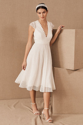 Anthropologie Sau Lee Dolores Dress By in White Size 2