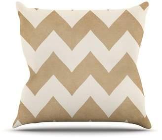 "Biscotti KESS InHouse and Cream by Catherine McDonald Chevron Throw Pillow KESS InHouse Size: 16'' H x 16'' W x 1"" D"