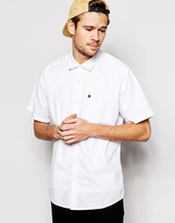 Quiksilver Shirt In Short Sleeve Poplin Regular Fit