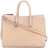 Max Mara double handles tote - women - Calf Leather/cotton - One Size