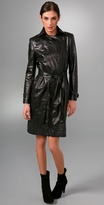 Leather Motorcycle Trench