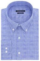 Van Heusen Indigo Blue Plaid Dress Shirt - Slim Fit