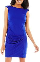 Allen B. Sleeveless Shirred Dress