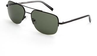 Ted Baker Semi Rimless Metal Navigator Sunglasses