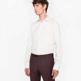 Paul Smith Men's White 'Double Dot' Print Shirt With 'Artist Stripe' Cuff Lining