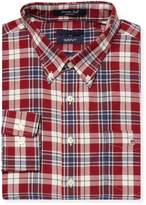 Gant Men's Plaid Cotton Button Down Sportshirt