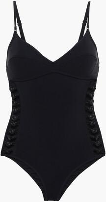 Zimmermann Cutout Button-embellished Swimsuit