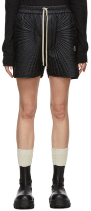 Rick Owens Black Moncler Edition Down Radiance Shorts