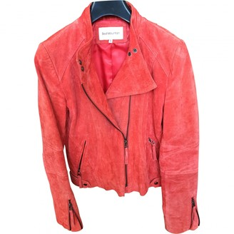 Non Signé / Unsigned Non Signe / Unsigned Orange Leather Jacket for Women