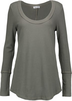 Splendid Waffle-knit stretch cotton and modal-blend top