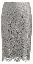Ralph Lauren Scalloped Lace Pencil Skirt Silver 4