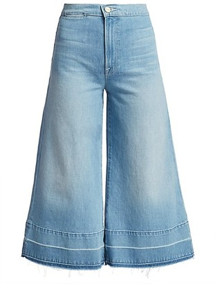 Frame Le Culotte High-Rise Release-Hem Jeans