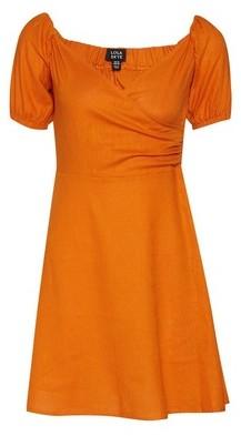 Dorothy Perkins Womens Lola Skye Yellow Puff Sleeve Dress