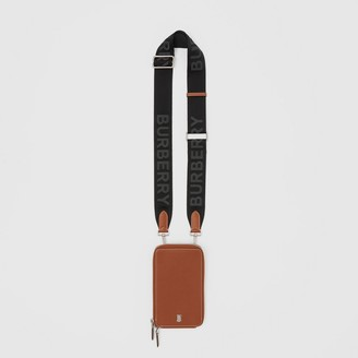 Burberry Grainy Leather Phone Case with Detachable Strap