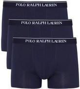 Polo Ralph Lauren Navy Stretch Cotton Boxer Briefs - Set Of Three