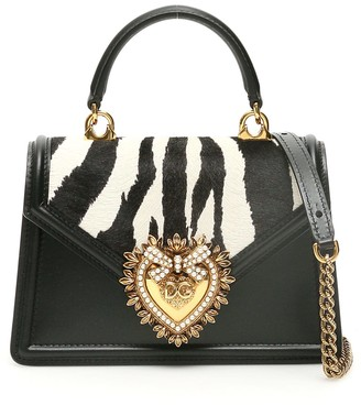 Dolce & Gabbana Zebra Print Devotion Small Bag