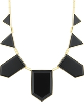 House of Harlow 1960 - Black Resin Triangle Necklace **Backorder**