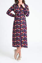 JoJo Maman Bebe Geometric Shirt Dress