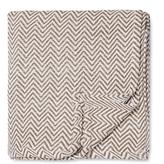 Melange Home Herringbone Yarn-Dyed Blanket