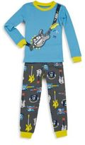 Petit Lem Toddler's & Little Boy's Guitar-Themed Tee & Pant Pajama Set