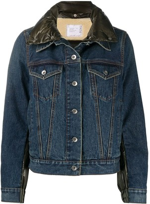 Sacai Padded-Back Denim Jacket
