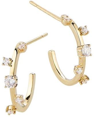 Lana Diamond & 14K Yellow Gold Hoop Earrings