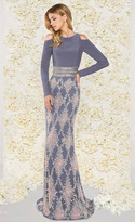 Mac Duggal Couture - 77215D Long Sleeve Cold Shoulder Evening Dress