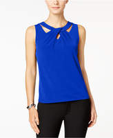 Nine West Sleeveless Cutout Twist-Front Top