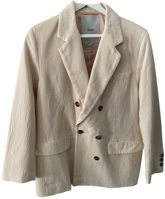 Closed Pink Linen Coat for Women