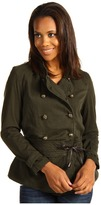 Christopher Blue Mia Military Jacket Mercer Sateen (Fir) - Apparel
