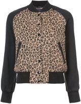 R 13 leopard print bomber jacket