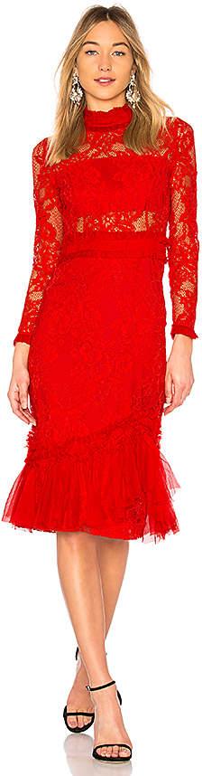 Alexis Anabella Lace Midi Dress
