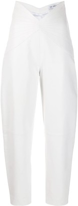 ATTICO High Rise Cropped Trousers