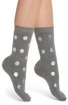 Nordstrom Women's Foil Dot Ribbed Crew Socks