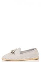 Quiz Grey Tassel Detail Espadrille Pumps