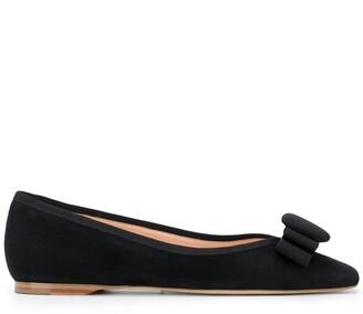 Rupert Sanderson Bow Detail Ballerina Shoes