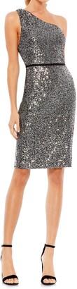Mac Duggal Sequin One-Shoulder Cocktail Dress