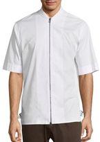 Helmut Lang Short Sleeve Zip-Front Shirt
