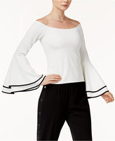 Bar III Off-The-Shoulder Bell-Sleeve Top, Created for Macy's