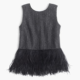 J.Crew Collection Donegal wool top with ostrich feathers