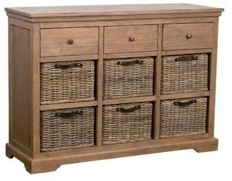 Beachcrest Home Cleveland Sideboard Color: Gray