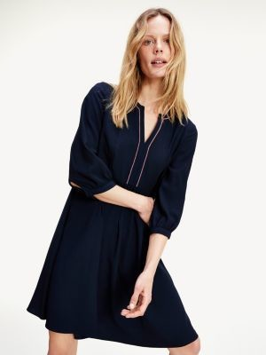 Tommy Hilfiger Contrast Trim Relaxed Fit Shift Dress