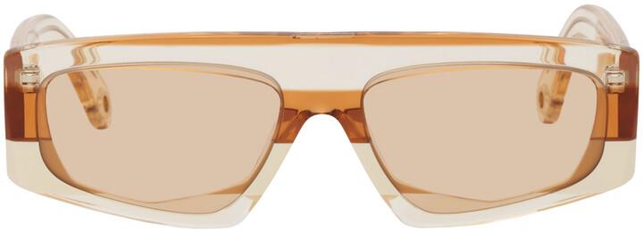 Thumbnail for your product : Jacquemus Orange 'Les Lunettes Yauco' Flat Top Sunglasses
