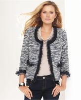 INC International Concepts Jacket, Metallic Tweed Cropped