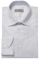 Canali Checkered Barrel Cuffs Dress Shirt